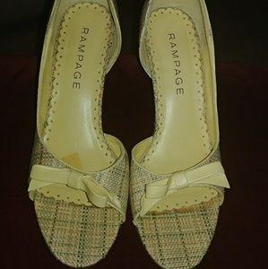 Rampage Shoes - Ladies Textured Retro Pumps